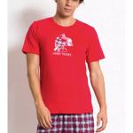 Pánské pyžamo šortky Opice s popcornem