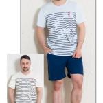 Pánské pyžamo šortky Vlny
