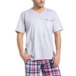 Pánské pyžamo Timon světle šedé krátké