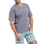 Pánské pyžamo Timon tmavě šedé krátké