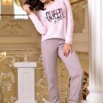 Růžové dámské pyžamo Oxana
