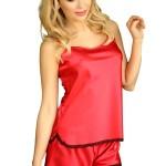 Saténové pyžamo Toledo červené